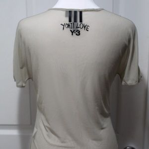 Adidas Y-3 Yohji Yamamoto 100% Sheer Mesh Shirt S